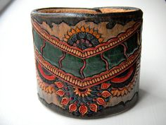 Gypsy Dancer Leather Cuff by STRAPbyAlexander on Etsy, $150.00