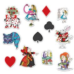 Balloons, Decorations Alice In Wonderland Party Supplies Cutouts 12 Pk Decorations Birthday Wall Signs & Garden Theme Tattoo, Alice In Wonderland Theme, Alison Wonderland, Casino Theme Parties, Casino Party, Photo Booth Props, Birthday Party Decorations, Wall Decorations, Halloween