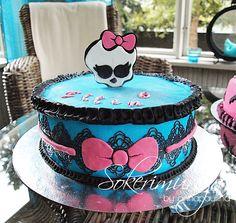 Monster High cake. Sokerimuruja.