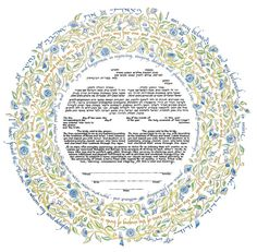 Ketubah Personalized Jewish Marriage Certificate Hand Painted