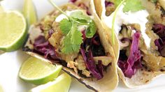 I just discovered this amazing recipe Roast Pork Tacos with Tomatillo Salsa by Chef Jonathan Waxman!