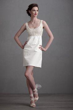 Bride's reception dresses