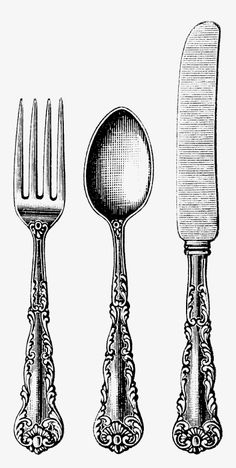 Ornate Tableware More than 3 million PNG and graphics resource at Pngtree. Find the best inspiration you need for your project. Engraving Illustration, Antique Illustration, Ink Illustrations, Spoon Drawing, Knife Drawing, Mode Poster, Traditional Tattoo Art, Spoon Art, B 13