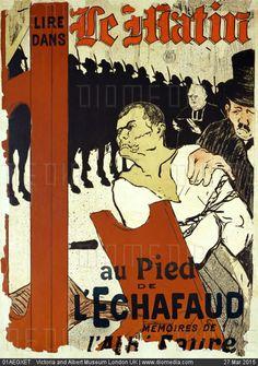Lire Dans, le Matin, au Pied de l'Echafaud, by Henri de Toulouse Lautrec. France, 1893 - stock photo