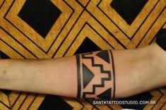 Santa Tattoo / Galeria de Tattoos-tatuagem marajoara, arte indigina, tatuagem indigena, tattoo indigena, braco