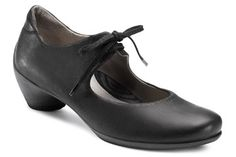 65c12efbb2cdd Ecco Sculptured Lace Mary Jane Black Julie, looks like colonial shoes? Arch  Support Shoes
