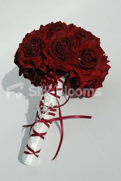 Luxury Deep Red Bridal Designer Wedding Bouquet Luxury Deep Red Velvet Bridal Designer Wedding Bouquet [Natt - Bride] - £84.99 : Silk Blooms UK