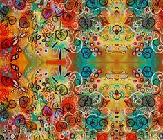ellies garden (larger print) fabric by kristenstein on Spoonflower - custom fabric