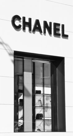 Chanel via @OnlyDrinkChamps. #Chanel #storefront