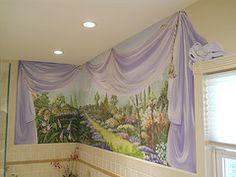 Bathroom mural painted by. Arlene Mcloughlin