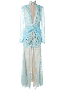 ALESSANDRA RICH Lace-Look Evening Dress. #alessandrarich #cloth #dress
