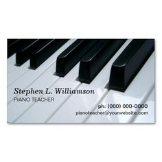 305 best musician business cards images on pinterest in 2018 carte piano teacher business card colourmoves