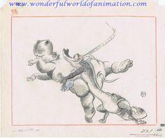Storyboard from Disney Studios Fantasia (1940)