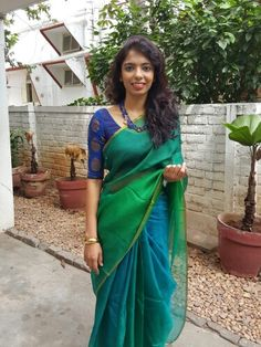 Shades of green to make anyone go green with j..!! Available at www.aavaranaa.com the gold kada and the charm filled necklace add to the oomph