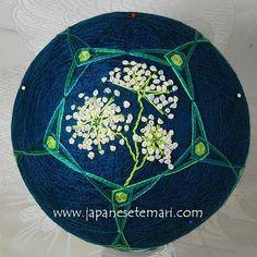 Japanese Temari: Queen Anne's Lace - Flower Temari Challenge