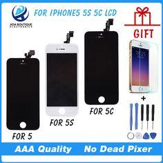 En iyi kalite testi aaa için hiçbir dead pixel iphone 5 Dokunmatik Ekran Ile 5 S Ekran LCD Ekran Sayısallaştırıcı Yedek Parçalar montaj