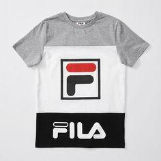 Fila Spliced T-Shirt - White   Target Australia Fila Shorts, Crew Neck, da7049576f