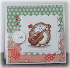 What a charmingly sweet, super adorable card! #hedgehog