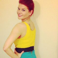 """Reality TV star/neuroscientist Dr. Michele: """"I love my canary yellow #SNUG #Camisoles! The color pops & it's so comfy!"""""""