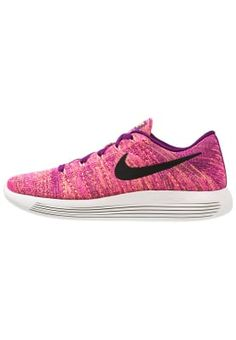 LUNAREPIC FLYKNIT - Joggesko - bright grape/black/fire pink/peach cream/ghost green