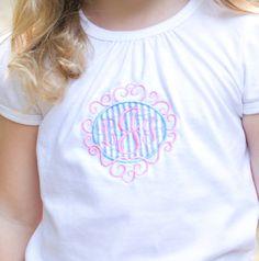Preppy Girl Monogram Shirt by CottonCandyCottage on Etsy, $23.00