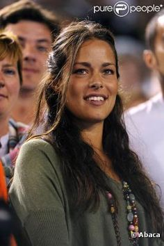 Ana Ivanovic. This is one beautiful woman and I love this picture, even though she is not playing.