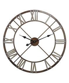Look what I found on #zulily! Open-Center Wall Clock #zulilyfinds