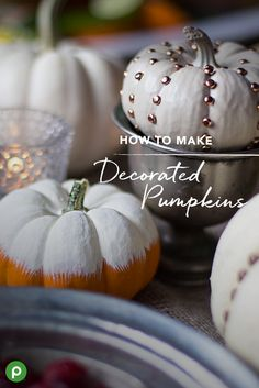 Pretty pumpkins are the perfect Thanksgiving table decoration. Make them even prettier with this DIY idea from Publix. Get crafty and make this one with your family.
