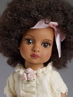 African Dolls, African American Dolls, African Girl, Doll Head, Doll Face, Child Doll, Baby Dolls, Effanbee Dolls, Pink Hair Bows