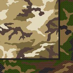 Military Camo Paper Napkins | Camo Themed Party Supplies
