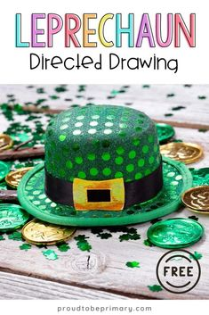 Decorate your class this March with this rainbow Leprechaun directed drawing for St. Patrick's Day. Follow the easy step by step printable art instructions that you can get for FREE! Plus, add it to your art for kids or leprechaun activities.