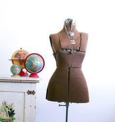 Vintage Adjustable Dress Form / Army Green / by RobertaGrove
