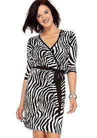 zebra wrap dress