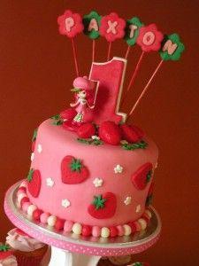 Strawberry Shortcake Birthday Cake & Cupcakes Strawberry shortcake cake and coordinating cupcakes for a birthday. Strawberry Shortcake Birthday Cake, Homemade Strawberry Shortcake, Strawberry Cobbler, Strawberry Tart, Birthday Cake 30, Birthday Ideas, Girl Cakes, Savoury Cake, Themed Cakes