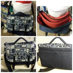 Star Wars messenger computer bag - PURSES, BAGS, WALLETS - My husband asked me to make him a custom messenger bag a few months ago for who's birthday. Craft Tutorials, Craft Projects, Star Wars Crafts, Computer Bags, Craft Patterns, Purses And Bags, Wallets, Geek Stuff, Couture
