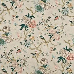 Find great deals on Chinoiserie fabric online. You can shop with us to find a rich array of designs to suit your home decorating needs. Silver Fabric, Navy Fabric, Drapery Fabric, Floral Fabric, Oriental Bedroom, Chinoiserie Fabric, Chinoiserie Wallpaper, Toile Wallpaper, Wallpaper Patterns