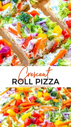 Oct 2019 - This Simple Crescent Roll Pizza Appetizer recipe is easy to make and always a hit at parties! You can even serve this veggie pizza recipe for dinner! Dinner Party Appetizers, Pizza Appetizers, Appetizers For Party, Appetizer Recipes, Recipes Dinner, Simple Appetizers, Party Desserts, Dessert Recipes, Breakfast Recipes