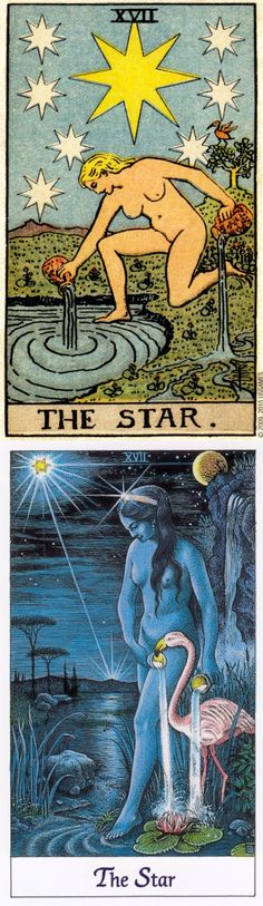 THE STAR: hope and faithlessness (reverse). Rider Centenial Tarot deck and Cosmic Tarot deck: tarot basics, tarot definition and read my cards for free. Best 2017 fortune telling and tarot decks. # #trickortreat #tattoo #thestar