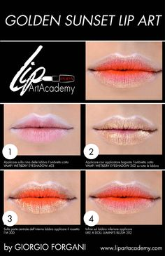 Golden Sunset #LipArt by Giorgio Forgani per Lip Art Academy