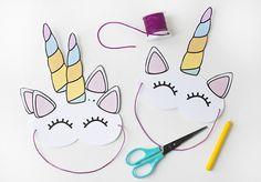 printable unicorn mask