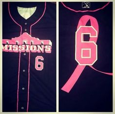 San Antonio Missions Baseball Pink Out the Park Jersey 2014!