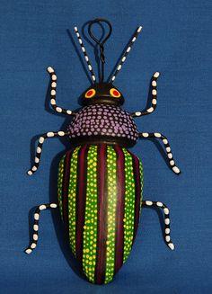 Bug Mexico Oaxaca by Teyacapan, via Flickr, artist is Concepcion Aguilar, one of the 4 Aguilar sisters from Ocotlan