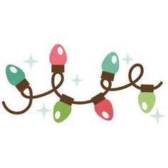 christmas lights scrapbook clip art christmas cut outs for cricut rh pinterest com string lights clipart png string lights clipart free