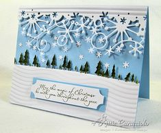 snow flake xmas card beautiful