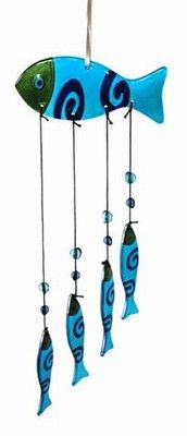 "FANCY GLASS WIND CHIMES 16"" - 20""We keep these hanging up in the french doors at the front of the shop. They are subject to a lot of wind occasionally and bang into all the other glass gifts we make t"
