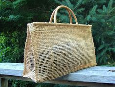 70's Woven Straw Tote Bamboo Large by Fabstract on Etsy https://www.etsy.com/listing/243734779/70s-woven-straw-tote-bamboo-large