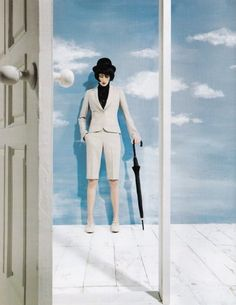 """The Reinterpretation: Magritte-inspired editorial """"Simple is More"""" by Kim Han June for Vogue Korea"""