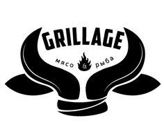 All working versions of grill restaurant logo: GRILL'AGE restaurant & bar (Sochi, Russia).
