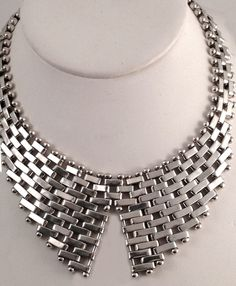 Vintage Modernist Necklace | Signed Jondell Ent Inc, Mexico.  Sterling silver.  ca. 1960s