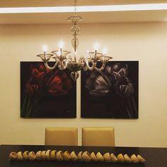 Produção do dia: Lustre de Murano na cor fumé by Venexino  #venexino #luz #arte #decor #decoracao #design #sofisticação #murano #italia